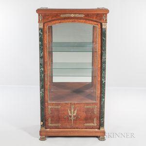 Empire-style Burlwood-veneered Ormolu-mounted Floor Vitrine