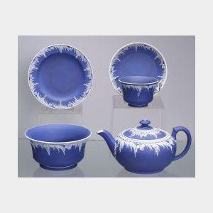 Wedgwood Dark Blue Jasper Dip Tea Service