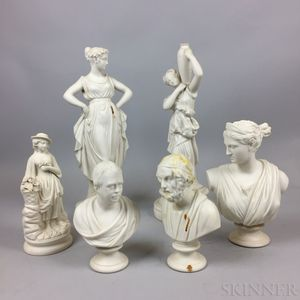 Six Parian Statues and Busts