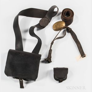 Four Civil War-era Leather Items