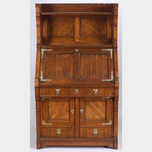 American Aesthetic Movement Walnut Fall-front Desk