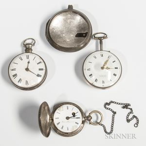 Three 18th/19th Century Silver-cased Watches