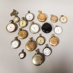 Seventeen Assorted Pocket Watches