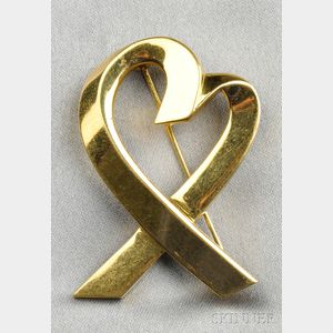 "18kt Gold ""Loving Heart"" Brooch, Paloma Picasso, Tiffany & Co."