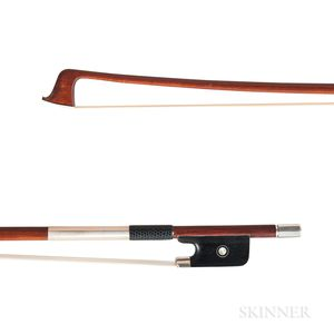 French Silver-mounted Violin Bow, Charles Claude Husson, c. 1900