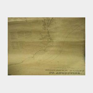 1874 Eldridge No. 8 Nautical Chart, Montauk Point to St. Augustine.