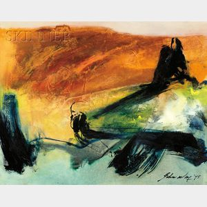 John Way [Wei Letang] (Chinese/American, b. 1921)      Untitled [Abstract]