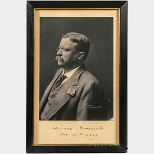 Roosevelt, Theodore (1858-1919) Signed Photograph.