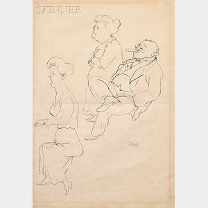 George Ehrenfried Grosz (German/American, 1893-1959)      Stille Nacht Heilige Nacht