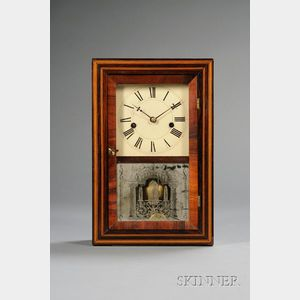 Rosewood Shelf Clock by Elisha Manross