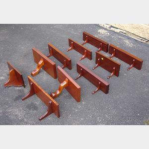 Lot of Ten Mahogany Shelves of Various Designs