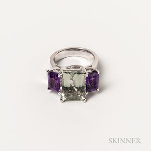 14kt White Gold Gem-set Ring