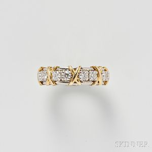 "18kt Gold, Platinum, and Diamond ""Sixteen Stone"" Ring, Schlumberger, Tiffany & Co."
