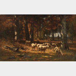 Carleton Wiggins (American, 1848-1932)      American Forest in October