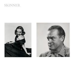 Philippe Halsman (American, 1906-1979)      Four Works: Portraits of Bob Hope, Tallulah Bankhead, John F. Kennedy