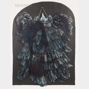 Leonard Baskin (American, 1922-2000)      Crow Ikon