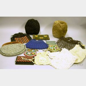 Two Fur Muffs and Twelve Purses