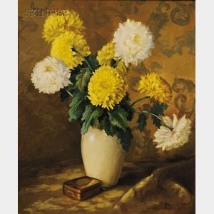 American School, 20th Century      Still Life with Chrysanthemums