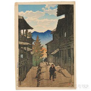 Kawase Hasui (1883-1957), Fall at Arayu Spa, Shiobara