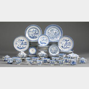 Lot of Canton Porcelain Table Items