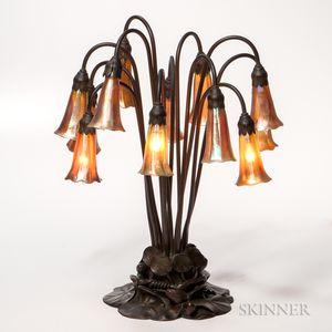 Tiffany Studios Twelve-light Lily Table Lamp