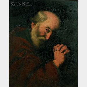 Manner of Jusepe de Ribera (Spanish, 1591-1652)    Saint Peter