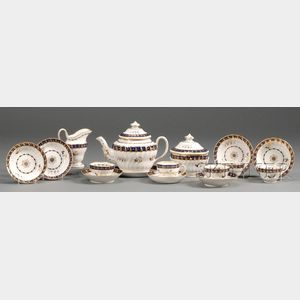 Caughley Porcelain Partial Tea Service