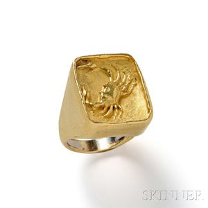 22kt Gold Ring, Boris Le Beau