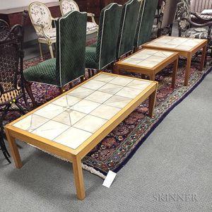 Three Gangso Mobler Danish Modern Teak Tile-top Tables