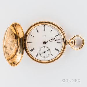 18kt Gold Elgin Gold Hunter-case Watch