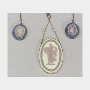 Two Wedgwood Three-Color Jasper Jewelry Items