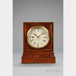 "Rosewood ""Kirk's Patent"" Shelf Clock"