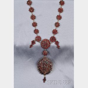 Antique Garnet Pendant Necklace/Brooch
