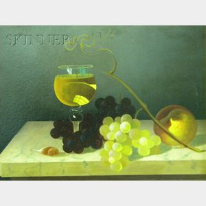 School of Carducius Plantagenet Ream  (American, 1837-1917)      Fruit and Wine