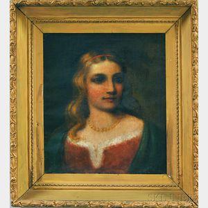 Darius Cobb (American, 1834-1919)      Portrait of a Girl