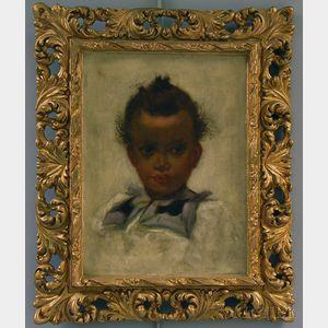 Boston School, 19th Century      Portrait of an African American Child
