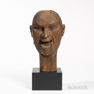 Carved Ventriloquist's Dummy Head
