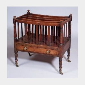 Regency-style Mahogany Canterbury