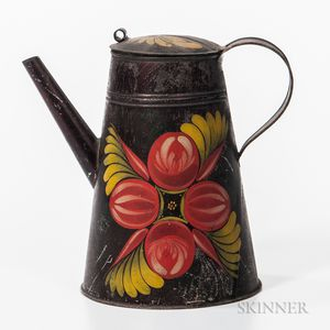 Painted Tin Coffeepot