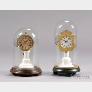 Two Unsigned Candlestand Clocks