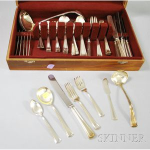 Large Group of Sterling and Silver Plated Flatware