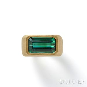 18kt Gold and Tourmaline Ring