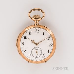 14kt Gold Open-face Minute Repeating Watch