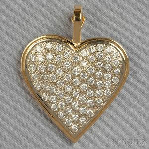 14kt Gold and Diamond Heart Pendant