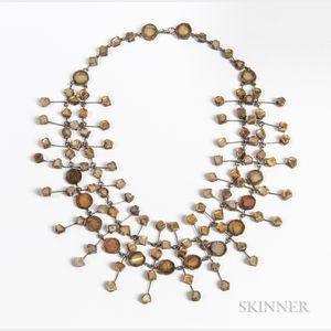 Line Vautrin (1913-1997) Resin Mirror Necklace