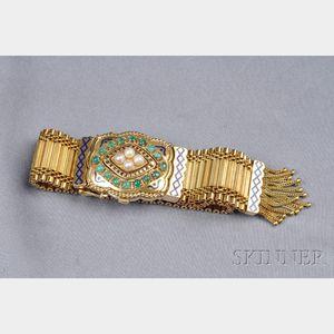 Lady's 18kt Gold and Gem-set Covered Wristwatch, Chopard, Spritzer & Fuhrmann