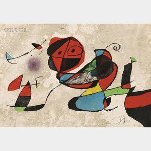 Joan Miró (Spanish, 1893-1983)      Gaudí XIII