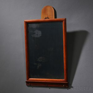Shaker Cherry and Maple Mirror Holder with Mirror