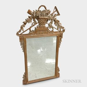 Italian Neoclassical-style Carved Wood Mirror