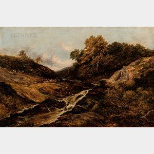 Hamilton McCulloch (British, 19th Century)      A Highland Trout Stream